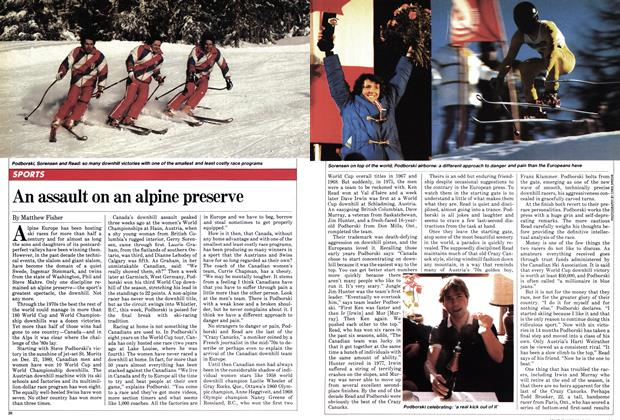 Article Preview: An assault on an alpine preserve, March 1982 | Maclean's