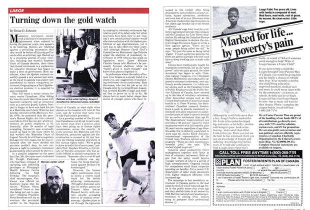 Article Preview: Turning down the gold watch, March 1982 | Maclean's