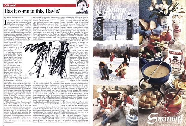 Article Preview: Has it come to this, Davie?, March 1982 | Maclean's