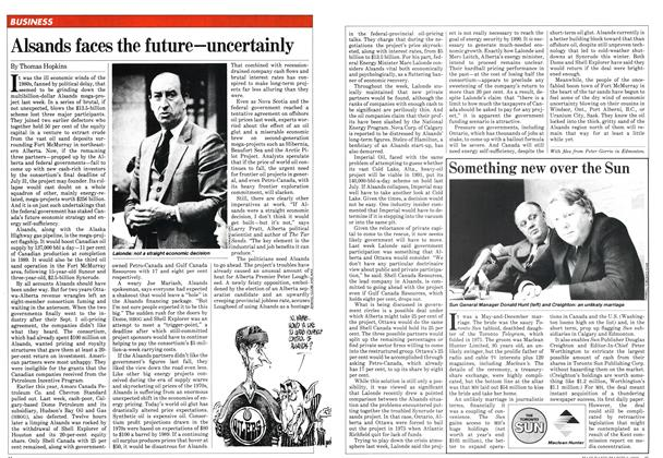 Article Preview: Alsands faces the future—uncertainly, March 1982 | Maclean's