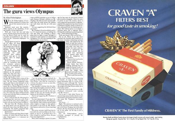 Article Preview: The guru views Olympus, March 1982 | Maclean's