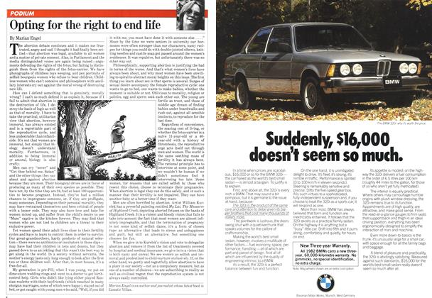Article Preview: Opting for the right to end life, March 1982 | Maclean's