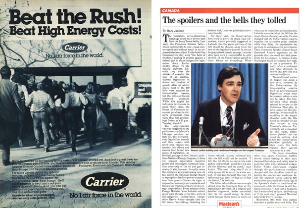 Article Preview: The spoilers and the bells they tolled, March 1982 | Maclean's