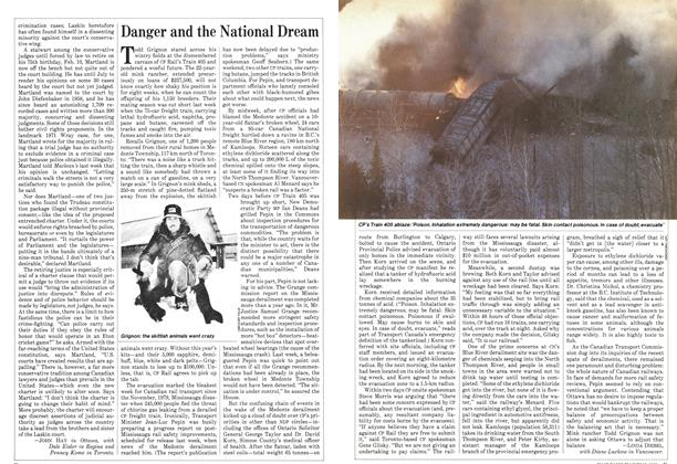 Article Preview: Danger and the National Dream, March 1982 | Maclean's