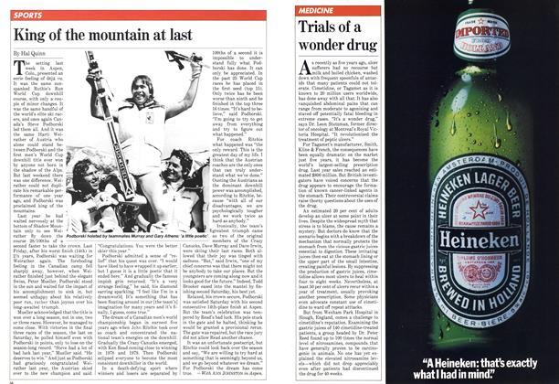 Article Preview: King of the mountain at last, March 1982 | Maclean's