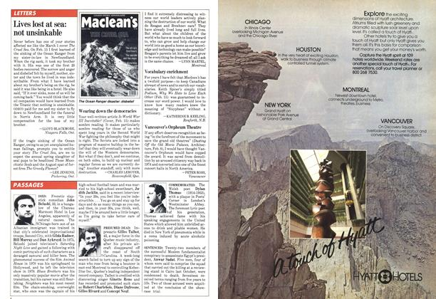 Article Preview: LETTERS, March 1982 | Maclean's