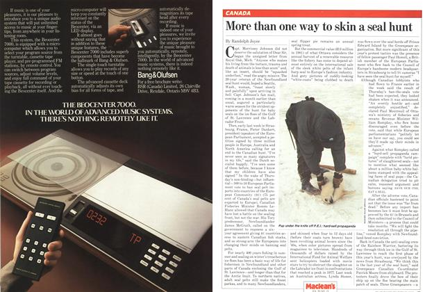 Article Preview: More than one way to skin a seal hunt, March 1982 | Maclean's