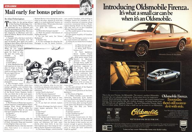Article Preview: Mail early for bonus prizes, March 1982 | Maclean's