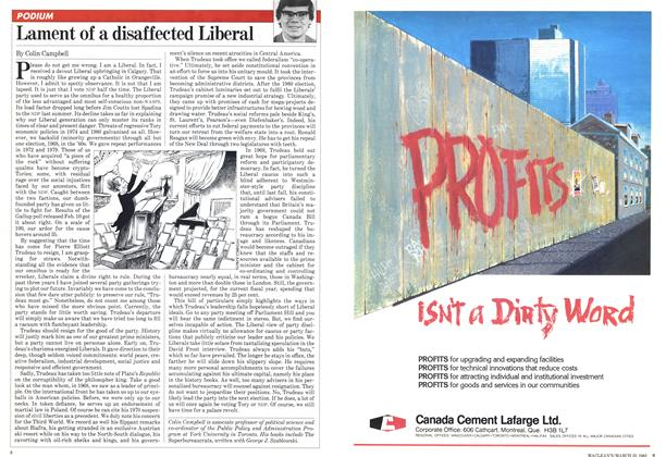 Article Preview: Lament of a disaffected Liberal, March 1982 | Maclean's