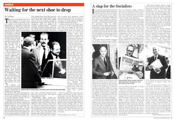 Article Preview: Waiting for the next shoe to drop, March 1982 | Maclean's