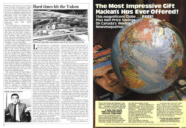 Article Preview: Hard times hit the Yukon, March 1982 | Maclean's