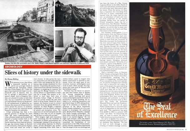 Article Preview: Slices of history under the sidewalk, March 1982 | Maclean's