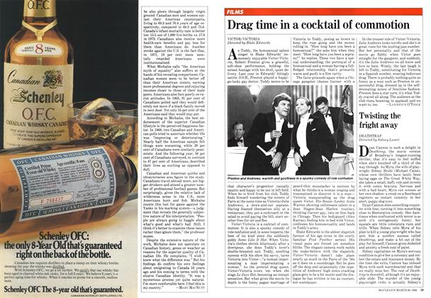 Article Preview: Drag time in a cocktail of commotion, March 1982 | Maclean's