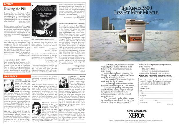 Article Preview: LETTERS, March 1982   Maclean's