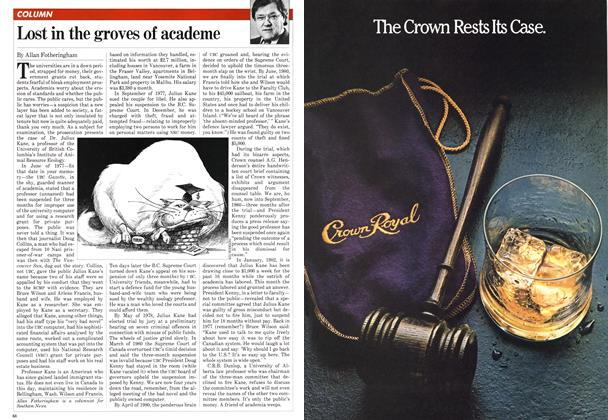 Article Preview: Lost in the groves of academe, March 1982 | Maclean's