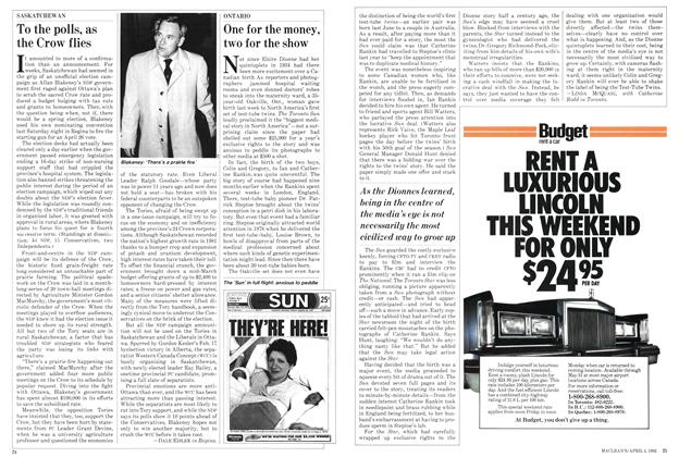 Article Preview: To the polls, as the Crow flies, April 1982 | Maclean's
