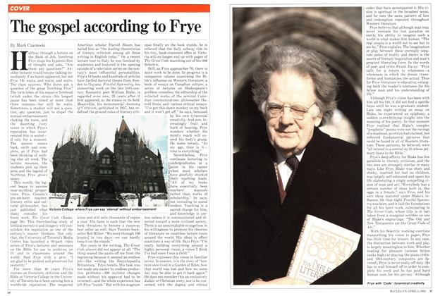 Article Preview: The gospel according to Frye, April 1982 | Maclean's