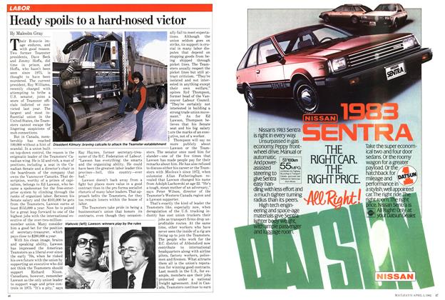 Article Preview: Heady spoils to a hard-nosed victor, April 1982 | Maclean's