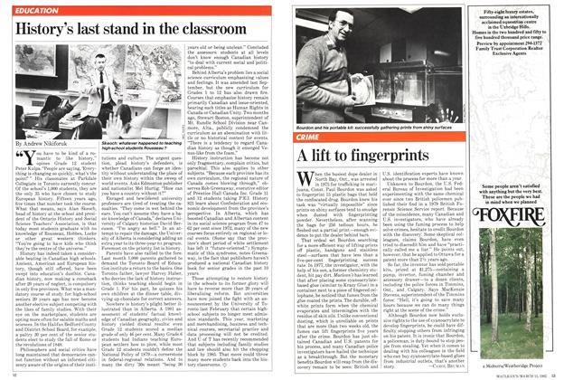 Article Preview: History's last stand in the classroom, April 1982 | Maclean's