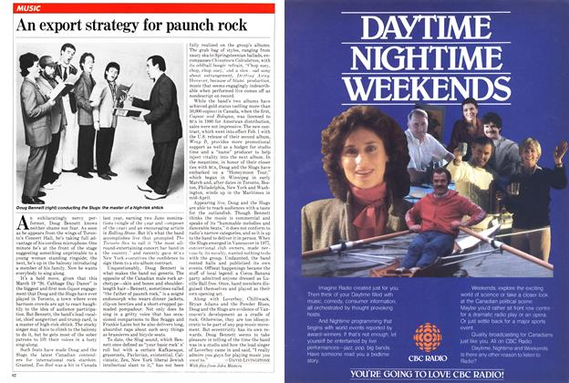 Article Preview: An export strategy for paunch rock, April 1982 | Maclean's