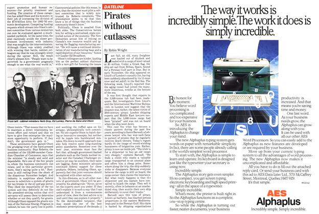 Article Preview: Pirates without cutlasses, April 1982 | Maclean's
