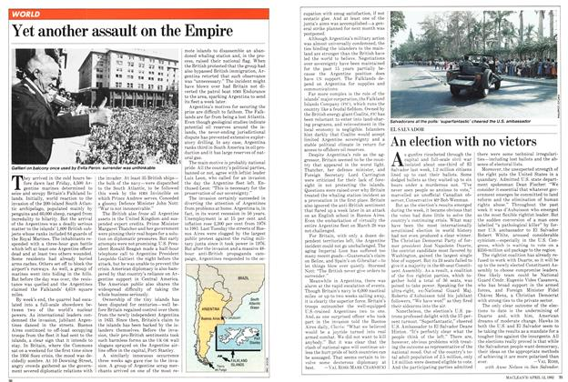 Article Preview: Yet another assault on the Empire, April 1982   Maclean's