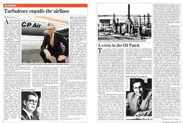 Article Preview: &ltTurbulence engulfs the airlines, April 1982 | Maclean's