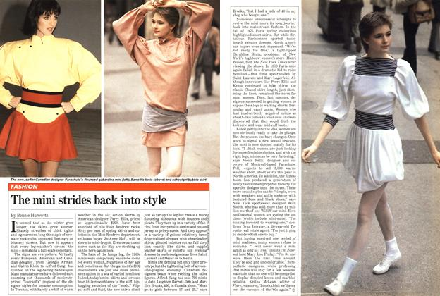 Article Preview: The mini strides back into style, April 1982 | Maclean's