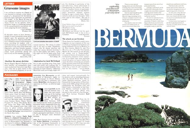 Article Preview: PASSAGES, April 1982 | Maclean's
