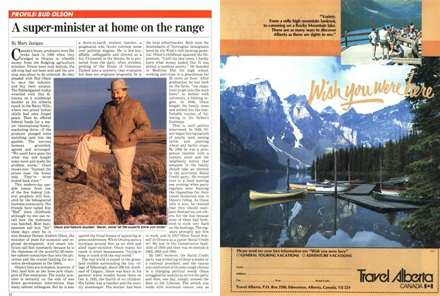 Article Preview: A super-minister at home on the range, April 1982 | Maclean's