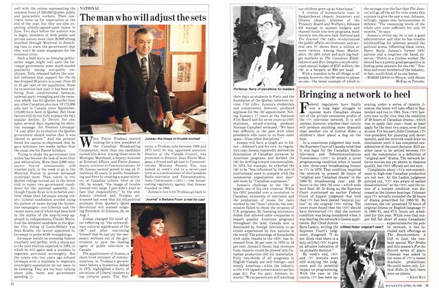 Article Preview: The man who will adjust the sets, April 1982 | Maclean's