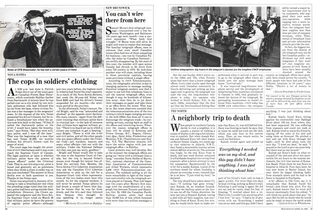Article Preview: The cops in soldiers' clothing, April 1982 | Maclean's