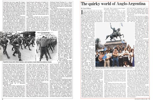 Article Preview: The quirky world of Anglo-Argentina, April 1982 | Maclean's