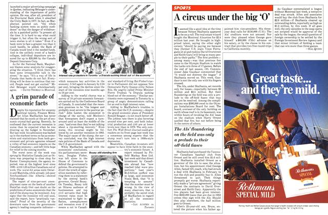 Article Preview: A grim parade of economic facts, April 1982 | Maclean's