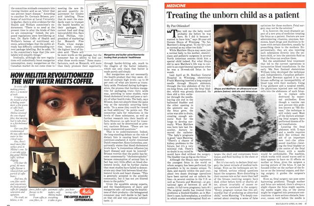Article Preview: Treating the unborn child as a patient, April 1982 | Maclean's