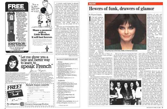 Article Preview: Hewers of funk, drawers of glamor, April 1982 | Maclean's