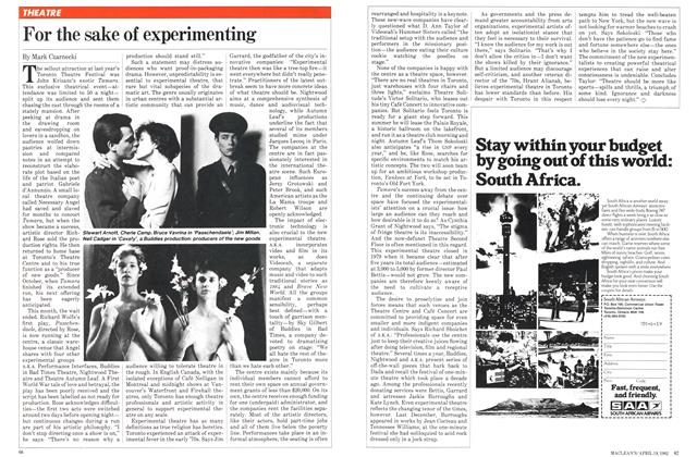 Article Preview: For the sake of experimenting, April 1982   Maclean's