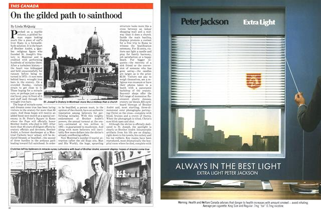 Article Preview: On the gilded path to sainthood, April 1982 | Maclean's