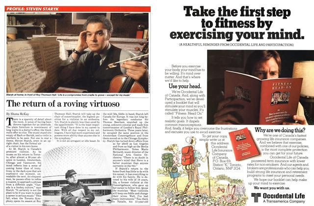 Article Preview: The return of a roving virtuoso, April 1982   Maclean's