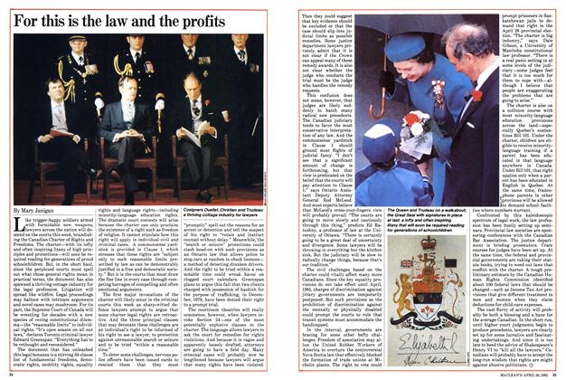 Article Preview: For this is the law and the profits, April 1982 | Maclean's