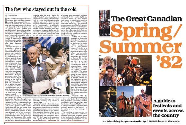 Article Preview: The few who stayed out in the cold, April 1982 | Maclean's