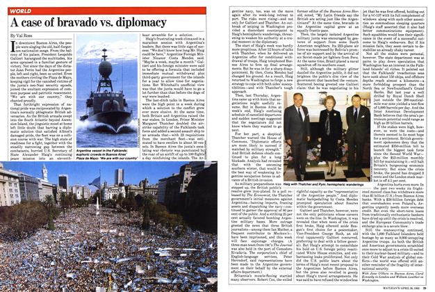 Article Preview: A case of bravado vs. diplomacy, April 1982 | Maclean's