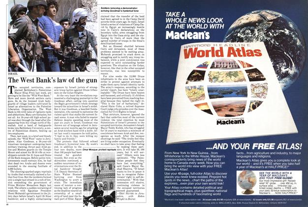 Article Preview: The West Bank's law of the gun, April 1982   Maclean's