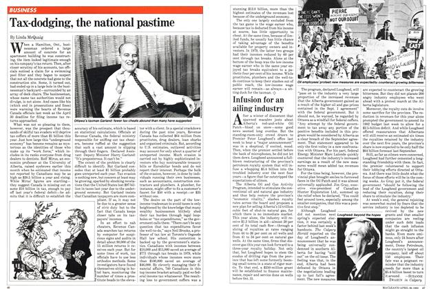 Article Preview: Infusion for an ailing industry, April 1982 | Maclean's