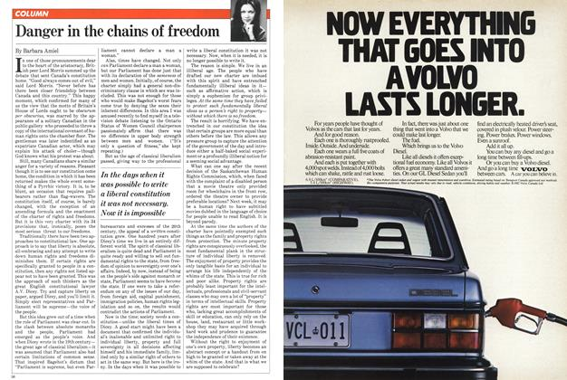 Article Preview: Danger in the chains of freedom, April 1982 | Maclean's