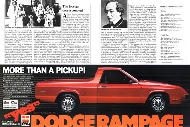 Article Preview: The foreign correspondent, April 1982 | Maclean's