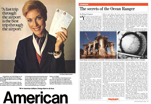 Article Preview: The secrets of the Ocean Ranger, May 1982 | Maclean's
