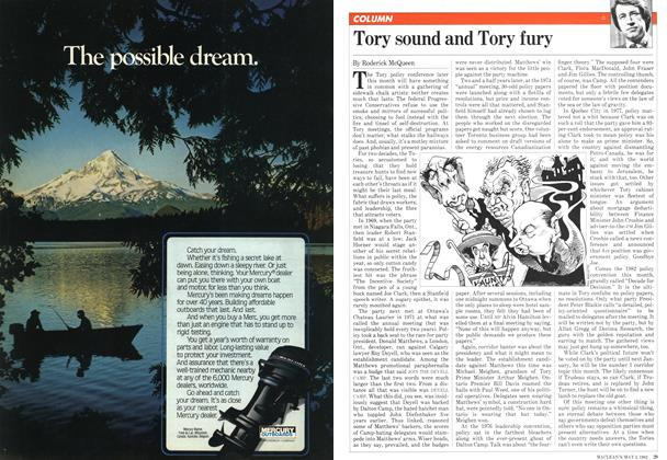 Article Preview: Tory sound and Tory fury, May 1982 | Maclean's