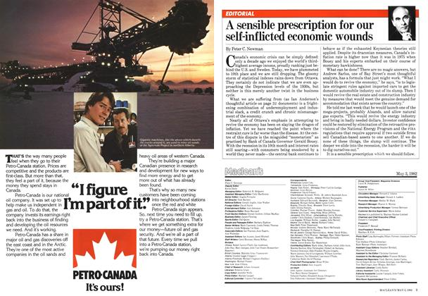 Article Preview: A sensible prescription for our self-inflicted economic wounds, May 1982 | Maclean's