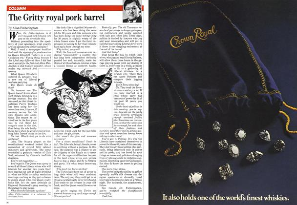 Article Preview: The Gritty royal pork barrel, May 1982 | Maclean's